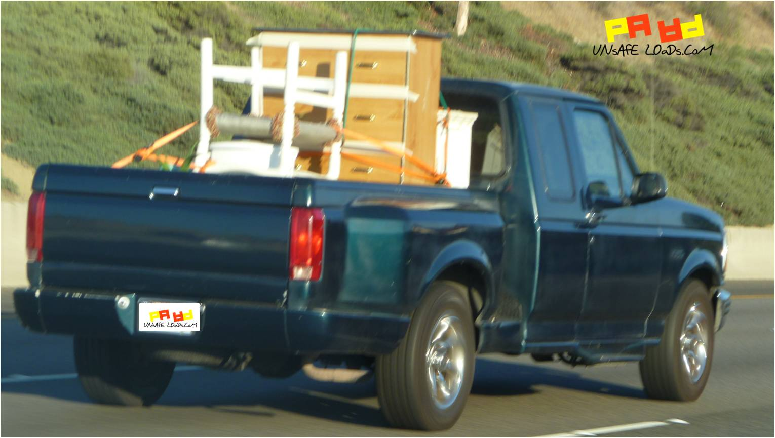 Furnished pickup truck