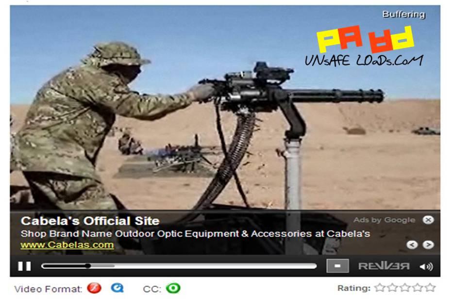 Cabelas Minigun ad